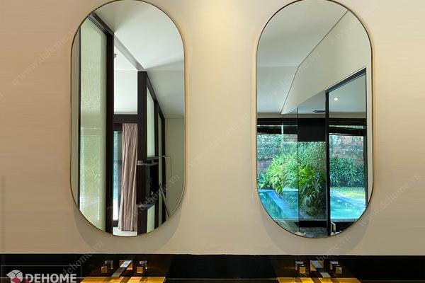 Gương khung inox mạ vàng hồng - Tô thêm vẻ đẹp cho không gian của bạn