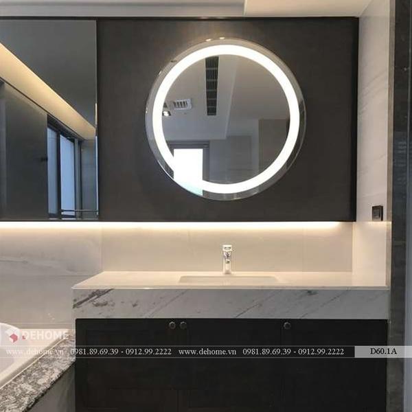 Gương Tròn Phòng Tắm Đèn Led Cao Cấp Dehome - D60.1A