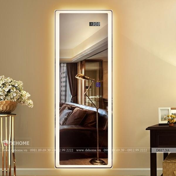 Gương Treo Tường Cao Cấp Có Đèn Led Dehome - D617.3A