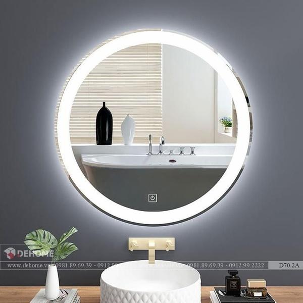 Gương Tròn Phòng Tắm Có Đèn Led Cao Cấp Dehome - D70.2A