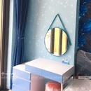 Gương Dây Da Xanh Dương Bàn Trang Điểm Cao Cấp Dehome - DA.50.0BN
