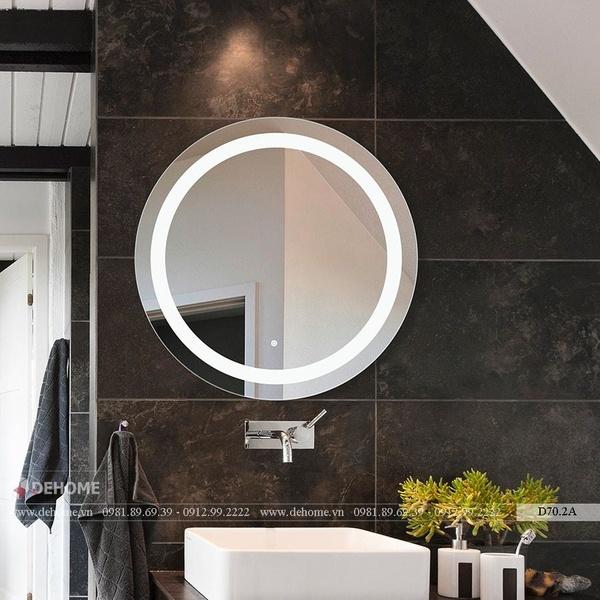 Gương Tròn Đèn Led Nhà Tắm Dehome - D70.2C