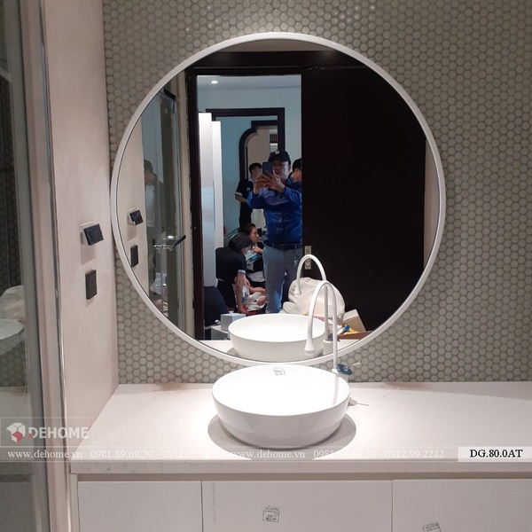 Gương Treo Phòng Tắm Khung Gỗ - DG.80.0AT