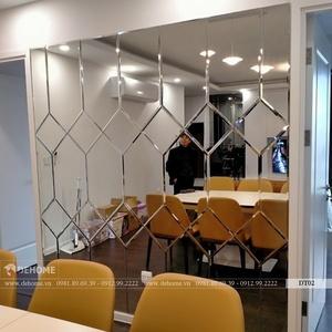 Gương Ghép Trang Trí Phòng Khách Cao Cấp Dehome - DT02