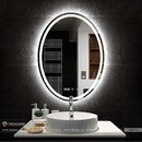 Gương Oval Phòng Tắm Có Đèn Led Cao Cấp Dehome - D69.5A
