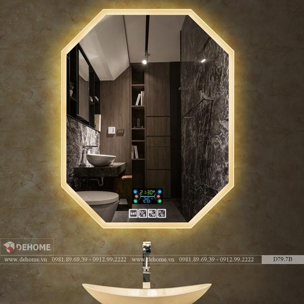 Gương Bát Giác Có Đèn Led Thông Minh Cao Cấp Dehome - D79.7B