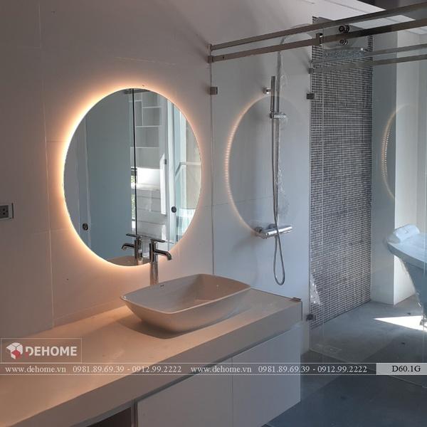 Gương Phòng Tắm Có Đèn Cao Cấp Dehome - D60.1G