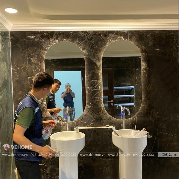 Gương Nhà Tắm Led Hắt Ngoài Cao Cấp Dehome - D612.4A