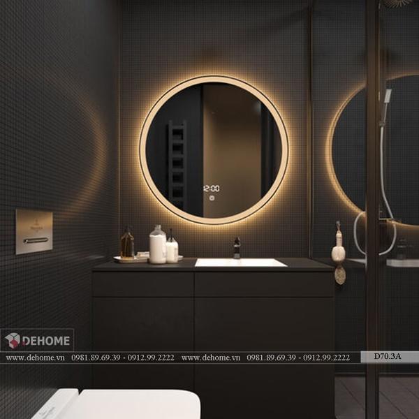 Gương Nhà Tắm Tròn Có Led Dehome - D70.3A