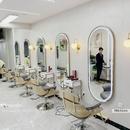 Gương Salon Hình Bầu Dục Mạ PVD Vàng Có Led Cao Cấp - DKL616.2A