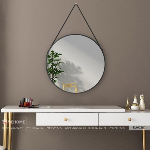 Gương Soi Nhà Tắm Dây Da Tròn Dehome - DA60.BD