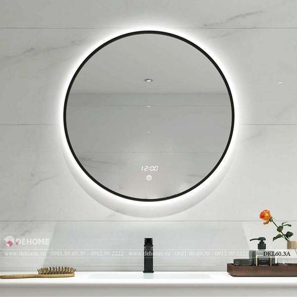 Gương Phòng Vệ Sinh Treo Tường Hình Tròn Có Đèn Cao Cấp Dehome - DKL60.3A