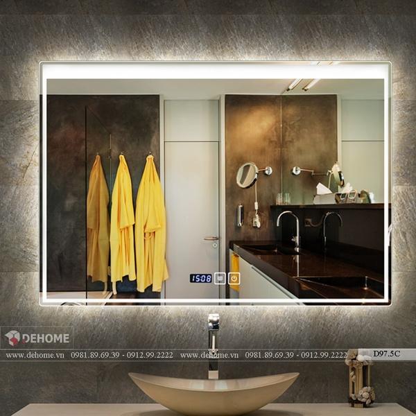 Gương Nhà Tắm Hình Chữ Nhật Có Led - D97.5C