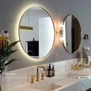Bộ Hai Gương Tròn Mạ PVD Vàng Dehome - DKL60.1C