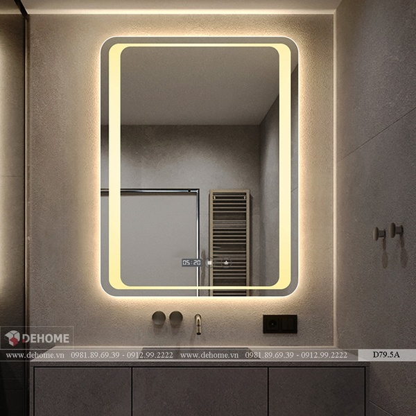 Gương Nhà Tắm Hình Chữ Nhật Dehome - D79.5A