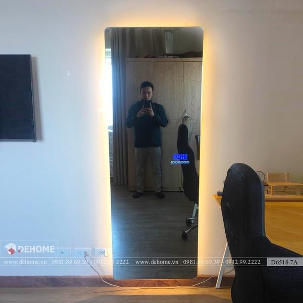 Gương Phòng Ngủ Cao Cấp Có Đèn LED Cao Cấp Dehome - D6518.7A