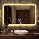 Gương Nhà Tắm Cao Cấp Hình Chữ Nhật Có Đèn Led Dehome - D127.7G