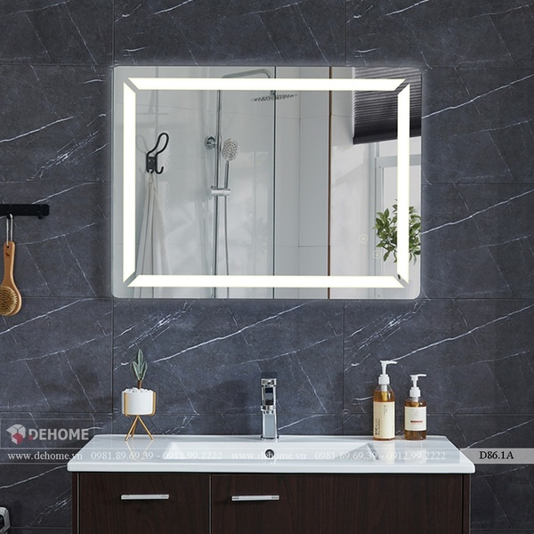 Gương Đèn Led Treo Phòng Tắm Cao Cấp Dehome - D86.1A