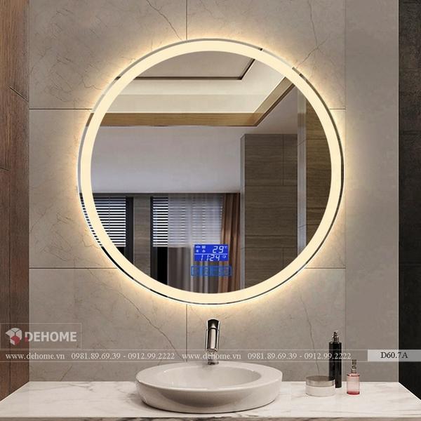 Gương Đèn Led Phòng Tắm Hình Tròn Full Tính Năng Cao Cấp Dehome - D60.7A