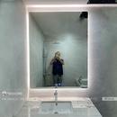 Gương nhà tắm chữ nhật led hắt sau cao cấp Dehome - D713.5A