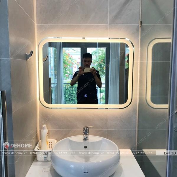 Gương Nhà Tắm Treo Tường Có Đèn Led Cao Cấp Dehome - D97.2E