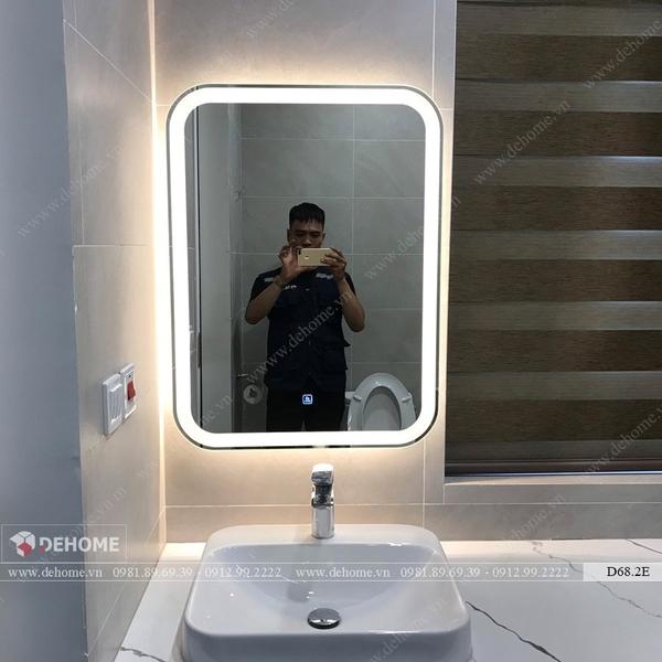 Gương Treo Phòng Tắm Đèn Led Cao Cấp Dehome - D68.2E