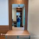 Gương bàn trang điểm khung mạ vàng cao cấp Dehome - DPVD714B