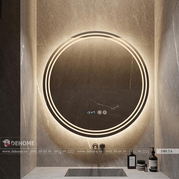 Gương Đèn Led Phòng Tắm Hình Tròn Cao Cấp Dehome - D80.5A