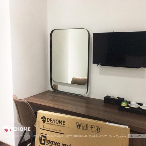 Gương bàn trang điểm sơn tĩnh điện cao cấp Dehome - DKL79E