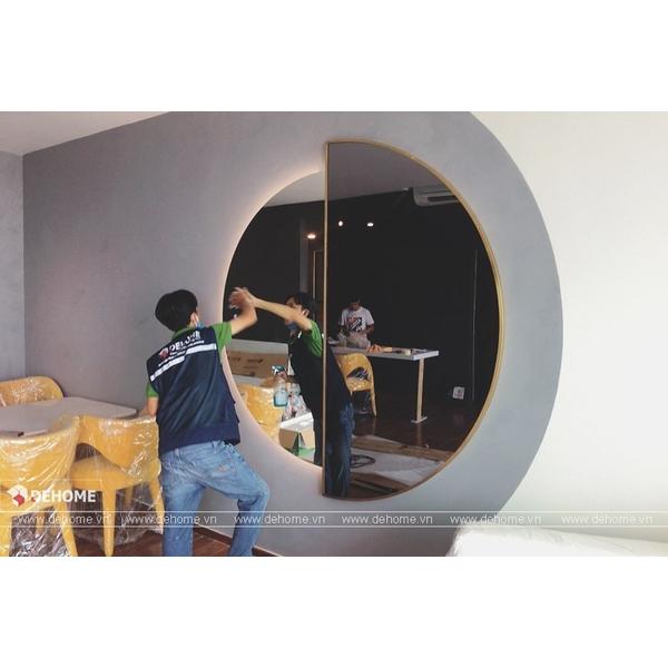 Gương Phòng Khách Khung Mạ PVD Thiết Kế Độc Đáo DPVD14C