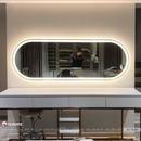 Gương bàn trang điểm hình chữ nhật có đèn led cao cấp Dehome - D176.2A