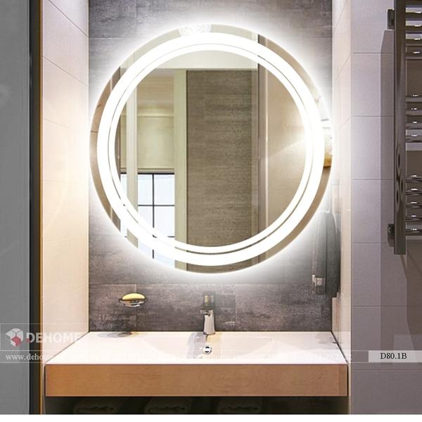 Gương Nhà Tắm Có Đèn Led Dehome - D80.1B
