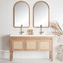 Gương khung gỗ tự nhiên nhà tắm cao cấp Dehome - DG69TN