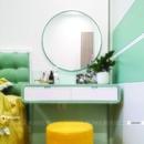 Gương bàn trang điểm khung sơn tĩnh điện cao cấp Dehome - DKL60C
