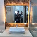 Gương khung inox mạ PVD có đèn led và loa bluetooth nghe nhạc Dehome cao cấp  - DPVD97.7A