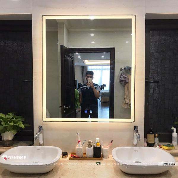 Gương đèn led treo phòng tắm cao cấp Dehome - D911.4A