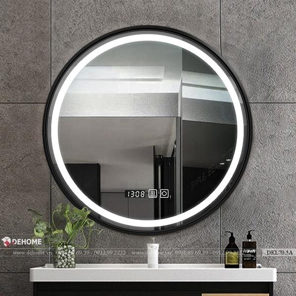 Gương Khung Kim Loại Đèn Led Nhà Tắm Cao Cấp Dehome DKL70.5A