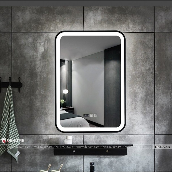 Gương đèn led khung sơn tĩnh điện cao cấp Dehome - DKL79.5A