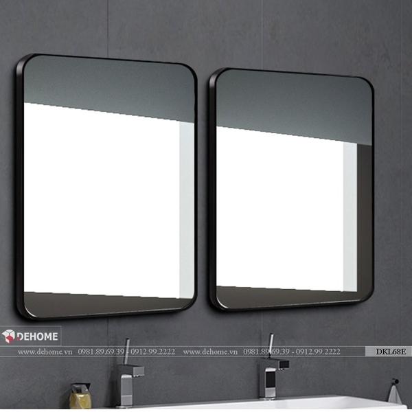 Gương khung kim loại sơn tĩnh điện màu đen cao cấp Dehome - DKL68F