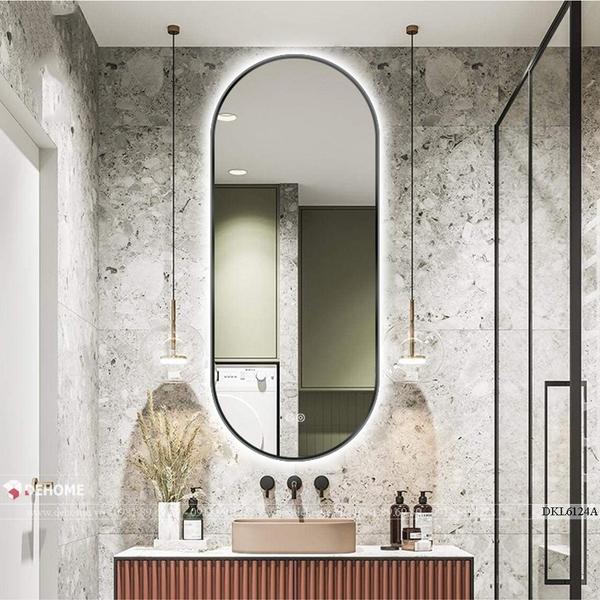 Gương phòng tắm khung kim loại sơn tĩnh điện cao cấp Dehome - DKL612.4A