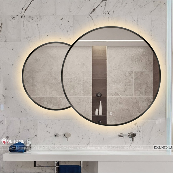 Gương khung inox sơn tĩnh điện cao cấp Dehome - DKL4080