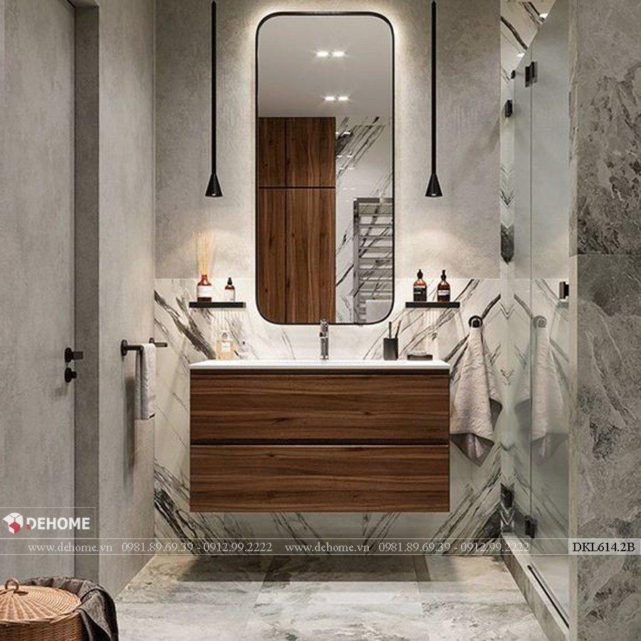 Gương khung sơn tĩnh điện phòng tắm cao cấp Dehome - DKL614.2B