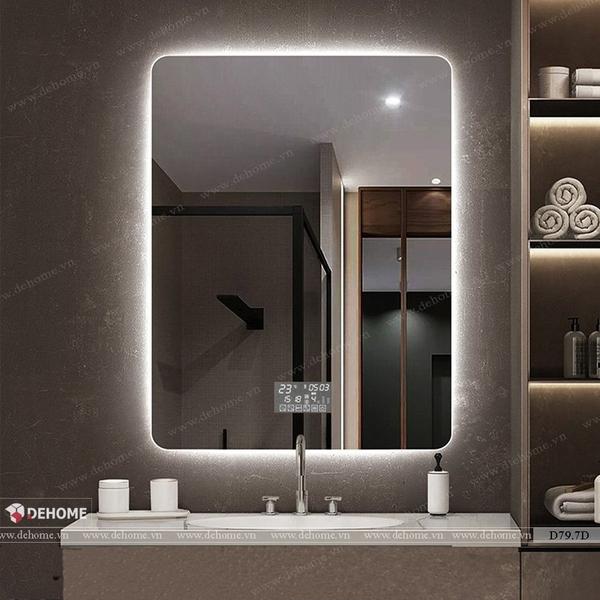 Gương nhà tắm có đèn led cao cấp Dehome - D79.7D