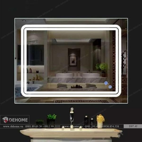 Gương Phòng Tắm Cao Cấp Có Đèn Led Dehome D97.4J