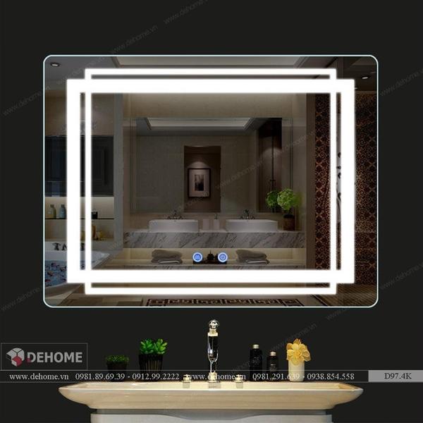 Gương Phòng Tắm Cao Cấp Có Đèn Led Dehome D97.K
