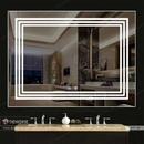 Gương Phòng Tắm Dải Led 3 Viền Cao Cấp Dehome - D97.4P