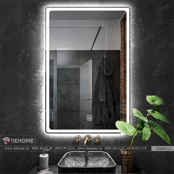 Gương Nhà Tắm Đèn Led Cao Cấp Dehome - D68.2A