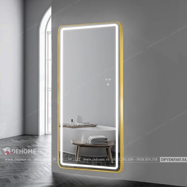 Gương soi toàn thân khung mạ PVD có Đèn Led Cao Cấp Dehome - DPVD65165.3A