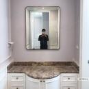 Gương khung inox mạ PVD màu vàng phòng tắm Dehome - DPVD912A