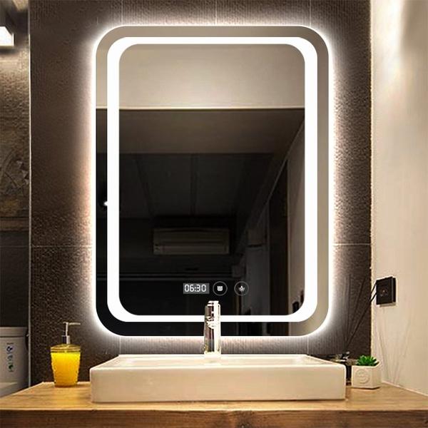 Gương Phòng Tắm Hình Chữ Nhật Có Đèn Led Cao Cấp Dehome - D68.5B